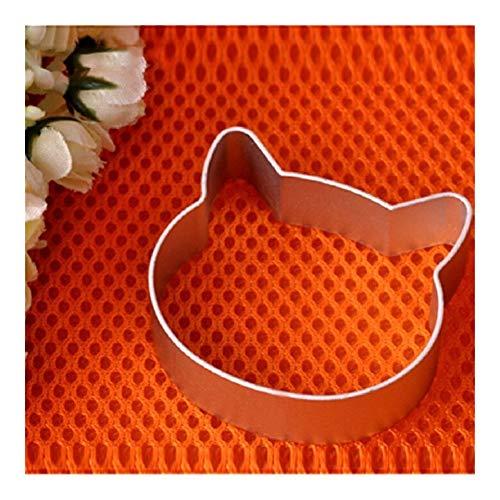 YBDZ Gato cabeza en forma de herramientas de la cocina de Navidad aleación de aluminio de la pasta de azúcar de la galleta de la torta del cortador del émbolo