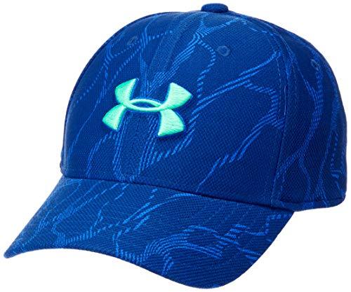 Under Armour Jungen Mütze Blitzing 3.0, Jungen, Hut, Printed Blitzing 3.0 Hat, Versa Blue (486)/Vapor Green, X-Small-Small