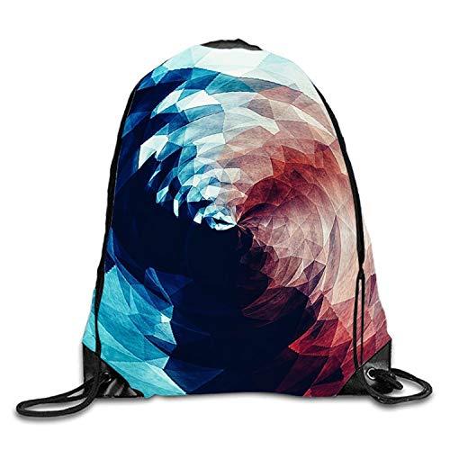 Lawenp Mochila con cordón en Espiral geométrica Mochila Impermeable Gymsack Daypack para Hombres y Mujeres
