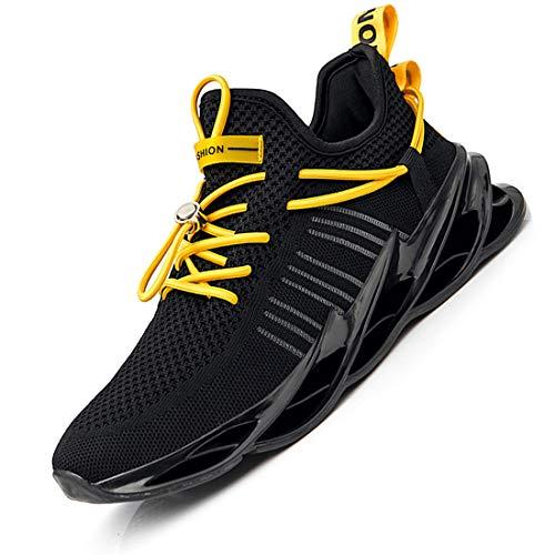 Damyuan Bambas Running Hombre Casual Gimnasio Tenis Trail Correr Zapatillas DeportivasGym Trekking Calzado Zapatos 44 (Negro)