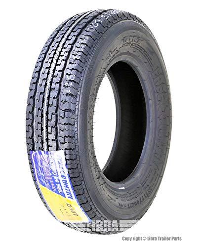 One FREE COUNTRY Premium Trailer Tires ST175/80R13 8PR Load Range D w/Scuff Guard