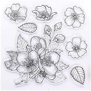 KWELLAM Tampons transparents en forme de fleurs pour la fabrication de cartes, la décoration et le scrapbooking