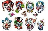 Clown Collection (Evil Clown Temporary Tattoos)