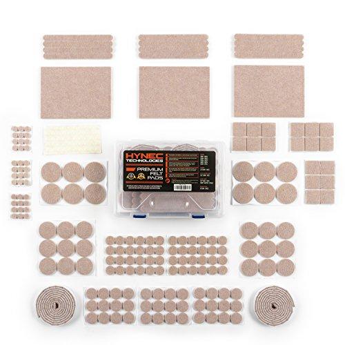 Hynec Premium Möbelschoner Filzgleiter XL Großes Set mit 9 verschiedenen selbstklebenden Stickern aus Filz für Möbel stuhl filzgleiter selbstklebend Filzunterlage