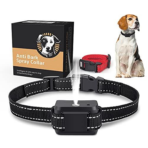 SOYAO Collares antiladridos para Perros, Collar automático contra ladridos con Spray de citronela, Collar antiladridos con sensibilidad Ajustable para Perros Grandes, medianos y pequeños