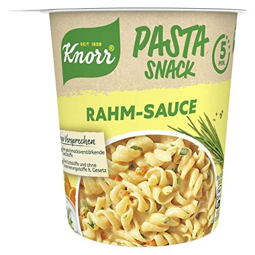 Knorr Pasta Snack Rahm Sauce leckeres Nudelgericht Fertig in nur 5 Minuten, 1 x 62 g