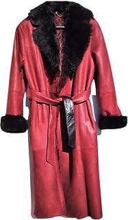 Cappotto Vera Pelle da Donna. Shearling Originale Spagnolo Colore Rosso Tg L