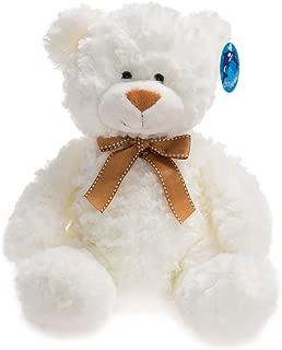 WILDREAM Stuffed Teddy Bear, Plush Teddy Bear, White, 11 Inches