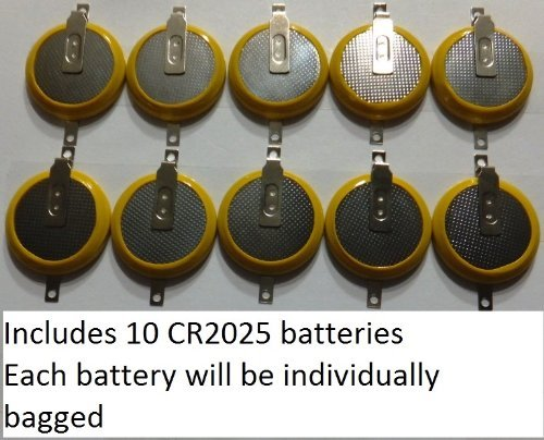 10 Gameboy Save Game Batteries Cr2025 Coin Cells by Generic