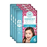 The Honest Company Baby Diapers with True Absorb Technology, Holiday Trimmings, Size 6, 72 Count