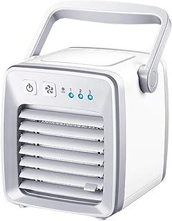JT- Mini Enfriador de Aire Mini Enfriador de Escritorio portátil Mini Enfriador de Aire y Aire Acondicionado Enfriador de Oficina Ventilador Multifuncional con Hielo Durable (Color : White)