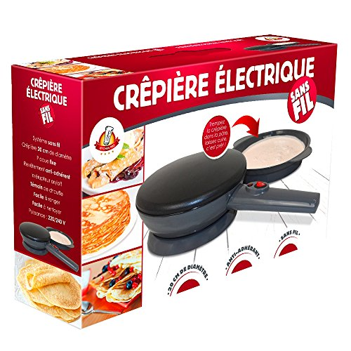 Kitchen Pro - Crpire lectrique sans Fil diamtre 20 cm...