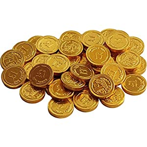 gold milk chocolate £1 coins (pack of 40) Gold Milk Chocolate £1 Coins (Pack of 40) 516uyoaDiuL