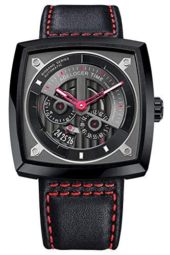 Agelocer Luxury Watch Men Designer Square Watch Waterproof All Black Watches 5603J3