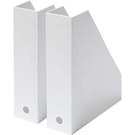 ライクイット(like-it) 収納ケース A4 ファイルボックス 2個組 幅(L)7.7x奥25.3x高30.7cm (S)7.2x奥25.3x高30.7cm オールホワイト (不透明) 日本製 MX-19