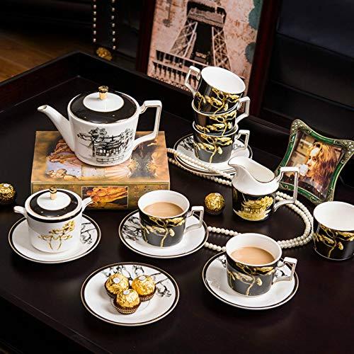 Saucer Set Bone China Afternoon Tea Set, Coffee Maker, Coffee Maker, Sugar, Kettle, Kettle, Coffee Maker, Cooking Utensils for Drinking Tea