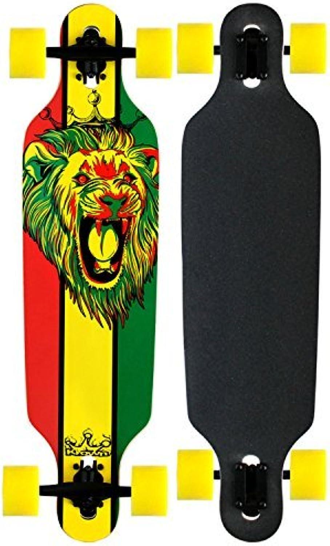 Krown Rasta Freestyle Elite Complete Longboard with Yellow Wheels by Krown