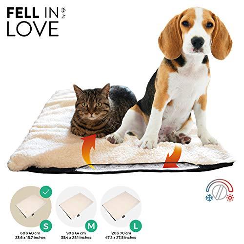 riijk Selbstheizende Decke für Katzen & Hunde, Größe: 60 x 40cm, Heizdecke waschbar, Wärmematte für Katzen raschelfrei, Katzendecke