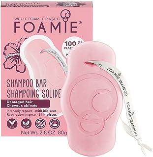 Shampoo solido Foamie con olio di ibisco per capelli secchi e danneggiati Shampoo 100% vegano e senza plastica che rafforz...