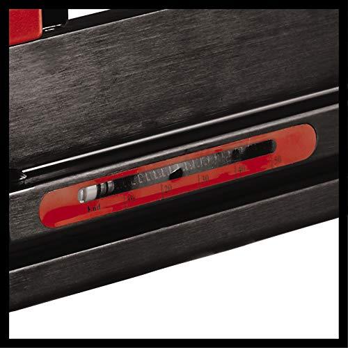 Einhell Agrafeuse pneumatique DTA 25/2 (Pression maximale 7 bar, Capacité de stockage 100 pièces, Livré en coffret avec 500 agrafes 5x25mm, 1000 clous de 25mm, 1 flacon d'huile)