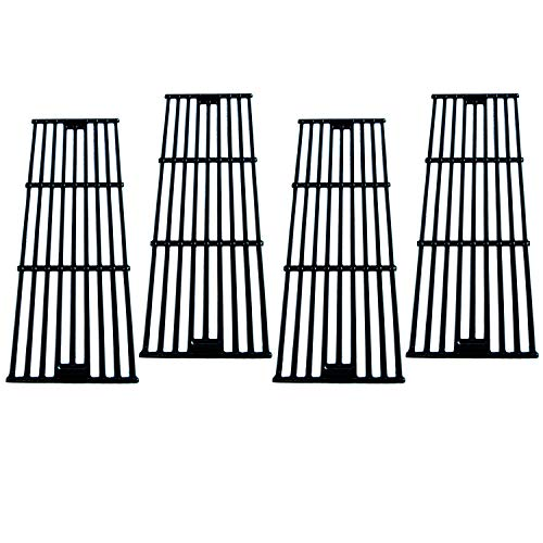 Direct Store Parts DC114 (4-Pack) Polished Porcelain Coated Cast Iron Cooking Grid Replacement for Chargriller, King Griller Gas Grill (4)