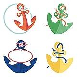 Carson Dellosa – SS Discover Anchors Mini Colorful Cut-Outs, Classroom Décor, 34 Pieces