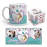 Kembilove Taza de Café para Madre Te Quiero Mamá – Taza de Desayuno para la Oficina – Taza de Café y Té para Mamá Personalizada con Foto – Taza de Cerámica Impresa – Tazas de 350 ml
