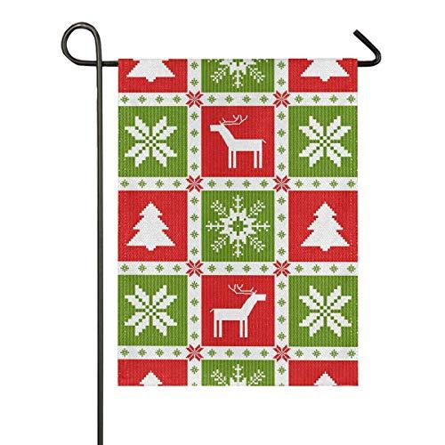 AEMAPE Navidad Año Nuevo Bandera de jardín de Temporada Banderas de Patio de Vacaciones al Aire Libre Banderas Decorativas de Temporada para el hogar Casa Jardín Patio Césped Patio