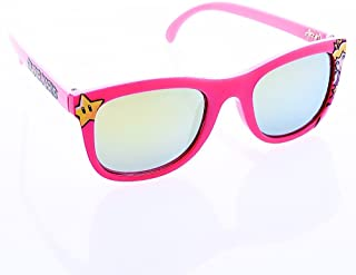 Costume Sunglasses Peach Pink Frame Yellow Lens Arkaid Party Favors UV400