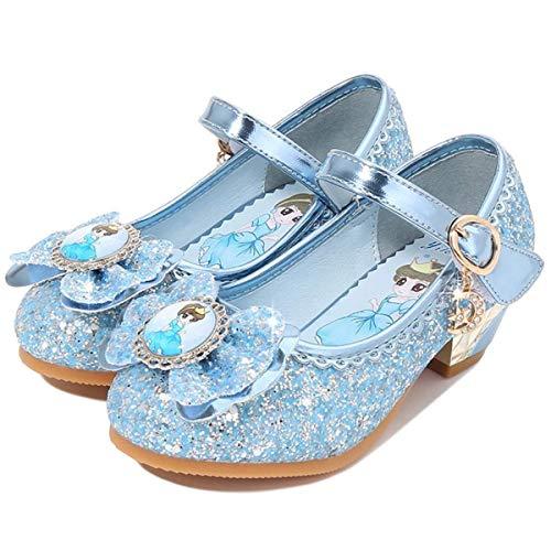 Kosplay Disfraz Princesa Zapatos Elsa Zapatos de Lentejuelas Antideslizante Niñas Bailarina Zapatos...