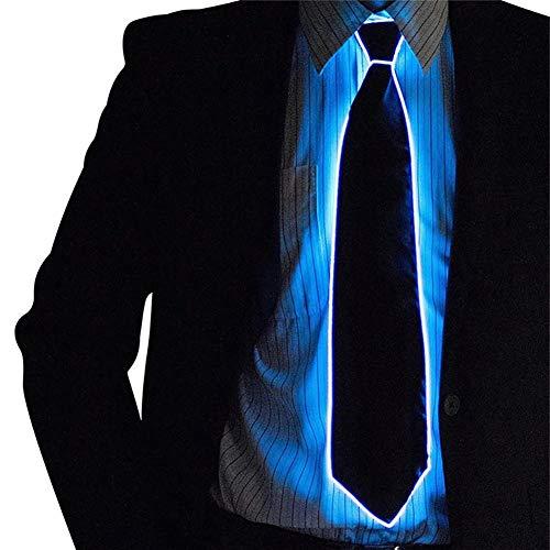 Gutyan novità Cravatta Luminosa Regolabile El Wire LED Cravatta Incandescente per Natale Halloween Rave Party Equilibratura Forniture Bar Show