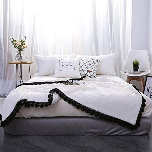 RONGXIE Manta Lamm Sherpa-deken, nieuw grijs en zwart, hoogwaardige zachte deken, warm voor op de bank, op bed, camping, beddengoed 180x200cm 1