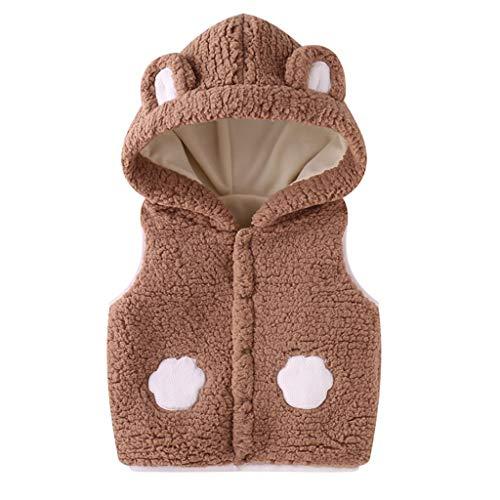 冬のコート、暖かい幼児キッズベビーガールズボーイズソリッドアウトドアチョッキVsetフード付き防風コート6ヶ月-3年