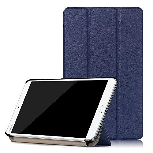 Kepuch Custer Hülle für Huawei MediaPad M3 8.4,Smart PU-Leder Hüllen Schutzhülle Tasche Hülle Cover für Huawei MediaPad M3 8.4 - Blau