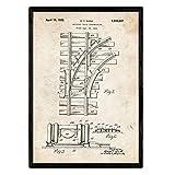 Nacnic Poster Patent Via Zug. Blatt mit altem Design-Patent