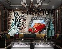写真の壁紙アメリカのレトロなレンガの壁のツールの背景の壁リビングルームの壁の芸術の壁の装飾の家の装飾のための大きな壁壁画シリーズの壁紙-196.8x118.1inch/500cmx300cm