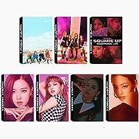 7 Pack/240 Pcs KPOP BLACKPINK Lomo Card JISOO, JENNIE ROSE, LISA Photocards Greeting Card with Postcards Box [並行輸入品]