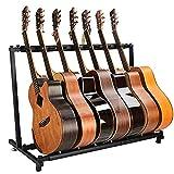 Home Equipment Gitarrenständer Rackständer mit mehreren Gitarrenhaltern für bis zu 7 elektrische...