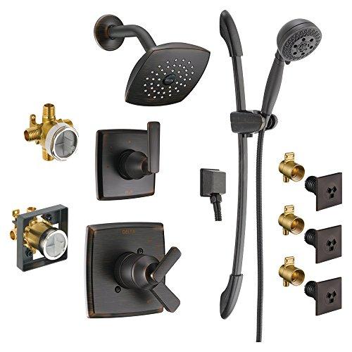Read About Delta KS17264-DRH51B03-RB Ashlyn Monitor Shower Kit, 6-Setting 3-Port Diverter, 3 H2Okine...