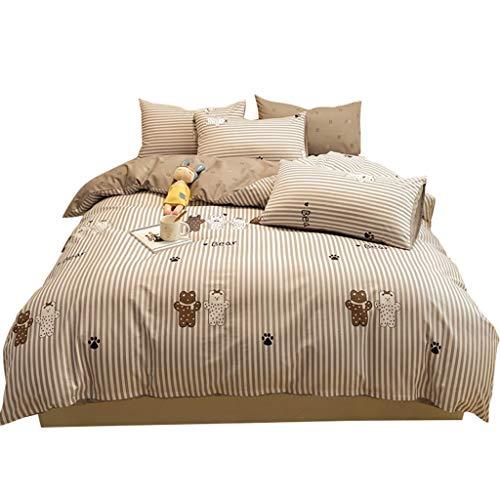 DYXYH Mode-Bettwäsche-Set-Familie-Set-Blatt Bettwäsche-Cover-Kissenbezug-Full-King-Einzelkönigin, Bett-Set (Size : 1.8M)