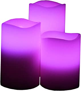Flameless Candles by Festival Delights- Real Wax, 9pc Duracell Batteries Included, Multiple Color, Cycle Timer, Remote Control, LED Candles, Flameless Candle Set