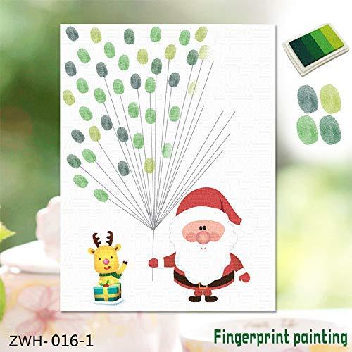 DJY-JY 3D Etiqueta engomada 3D Huellas Dactilares Amazon explosión Creativa de Navidad Viejo Creativo Dedo de la Huella Digital la decoración del hogar Pintura, A