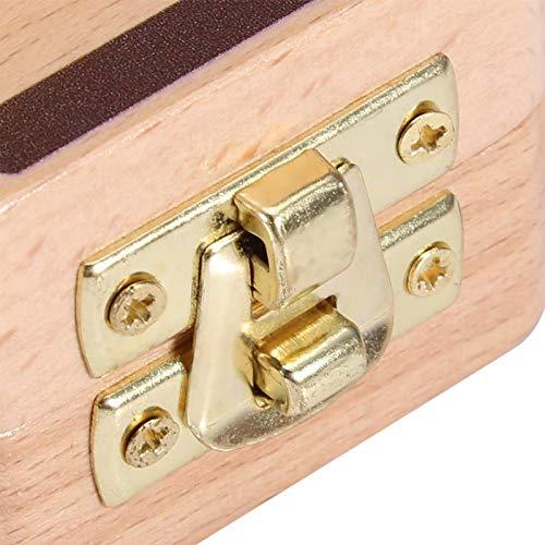 Caja con patrón de cámara, caja de almacenamiento duradera para un crecimiento récord(Y Camera Baby Tooth Box-Red Sun [English Sticker])