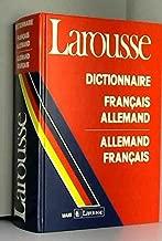 Larousse Dictionnaire Francais Allemand: Allemand Francais