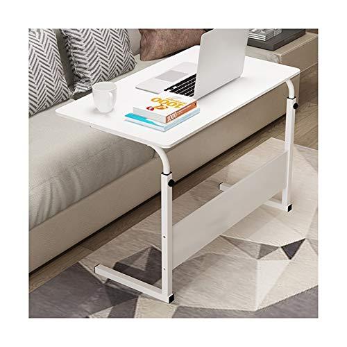 Bett Rolltisch Laptop Ständer Adjustable Computer-Stehpult Movable W/Räder, Beweglichen Beistelltisch for Bett Sofa Krankenhaus Lese Essen (Color : White)