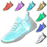 softance Fiber Optic LED Shoes Light Up Sneakers for Women Men with USB Charging Flashing Festivals Party Dance Luminous Kids Shoes...