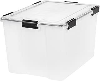 IRIS 74 Quart WEATHERTIGHT Storage Box Clear - 2 pack