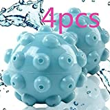 Bola De Lavanderia Secadora De Bolas De Secado Suavizado De Bolas Bola De Vapor,Removedor De Arrugas,Suavizante Bola De Vapor, Ideal para Secar Ropa (Azul)(4PCS)