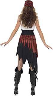 Smiffy's Women's Pirate Wench Costume, Dress and Headpiece, Pirate, Serious Fun