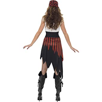 Belt and Headscarf Skirt Smiffys Adult Women/'s Sassy Pirate Wench Costume Top
